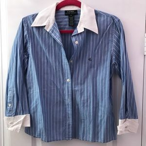 Long sleeve striped button down